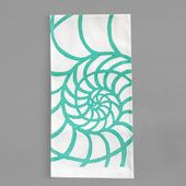 Nautilus Turquoise Kitchen Towel