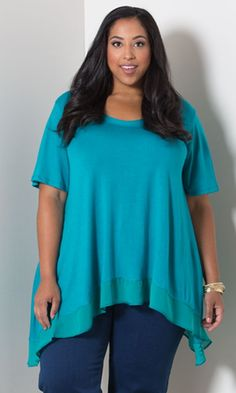Nancy Top - Teal   A perfect top to slip over our Perfect Leggings.   http://www.curvaliciousclothes.com/xcart/product.php?productid=18894&cat=249&page=5
