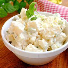 Den tryller du frem på få minutter uten at det koster deg mye bryderi. Sweet Potato, Potato Salad, Tapas, Side Dishes, Grilling, Food Porn, Soup, Potatoes, Favorite Recipes