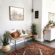 Living Room Bench, Interior Design Living Room, Living Room Decor, Interior Decorating, Bedroom Decor, Bohemian Interior Design, Bedroom Plants, Interior Livingroom, Decorating Games