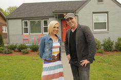 Kortney & Dave outside the finished house