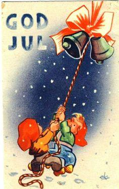 Julekort Erik von Krogh brukt 1944 Utg A/S Copia C.M.C.