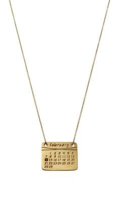 Calendar necklace...perfect way to highlight a special date