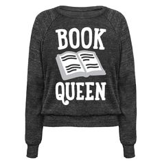 "Book Queen - Grab a good book and own your throne with this ""Book Queen"" book lover design! Perfect for a bibliophile, bookworm, book nerd, reader, and book queen!"