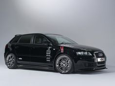 Audi A3 with Reiger body kit. Snazzy. Minus the stickers.