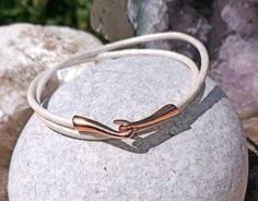 Pandora style leather charm bracelet with a rose gold hook and eye clasp .Double wrap.Thomas Sabo,Pandora,European charms by BohoBoutiquex on Etsy