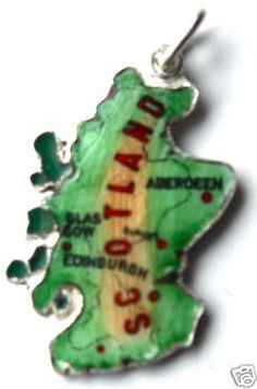 SCOTLAND - Map Vintage Enamel Travel BRACELET Charm charm bases, blanks: http://www.ecrafty.com/c-6-photo-jewelry.aspx