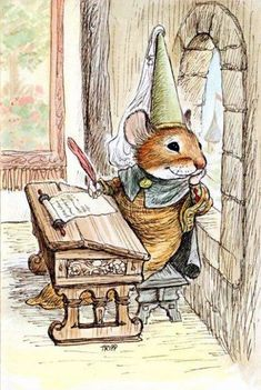by Wallace Tripp Art And Illustration, Watercolor Illustration, Fantasy Kunst, Fantasy Art, Beatrix Potter Illustrations, Cute Mouse, Whimsical Art, Manga Art, Animal Drawings