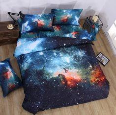Universe Galaxy Nebula Design Duvet Cover Set