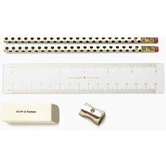 gold dots pencil pouch set
