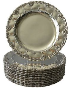 .Tiffany's Sterling Silver Dinner Plates circa 1900's
