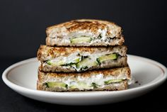 Oh my...Grilled Goat Cheese and Cucumber Sandwich.  I'm always on the lookout for creative grilled cheese ideas!