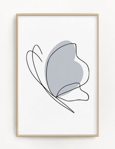 Butterfly Print | Any Colour Home Decor | One Line Drawing Print | Sketch Art | Minimalist Art | Modern Art Gallery Wall Prints Collage Wall
