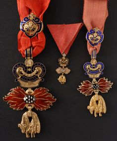 """Order of the Golden Fleece Austrian * Prince's Insignia """"Prinzengrosse"""", Miniature Insignia, Knight's Insignia Shades Of Purple, Deep Purple, Royal Jewelry, Vintage Jewelry, The Duke Of Burgundy, Army Medals, Ww1 History, Military Signs, Austrian Empire"""