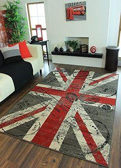 Milan Retro Red, Grey & Off-White Union Jack Print Rug 1878-W55 - 2 Sizes The Rug House http://www.amazon.com/dp/B00MOKKMES/ref=cm_sw_r_pi_dp_HIdbvb1XHJ1M1
