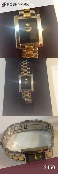 Women's Movado Watch⌚️ Beautiful stainless steel and gold overlay watch. Great condition. Movado Accessories Watches