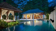 The Laguna Pool Villa - Living Room at 5 star hotel: The Laguna Resort & Spa. This hotel's address is: Kawasan Pariwisata Nusa Dua, Lot Nusa Dua Bali 80363 and have 287 rooms Beautiful Home Designs, Beautiful Homes, Beach Hotels, Hotels And Resorts, Luxury Hotels, Lagoon Pool, Iron Balcony, Hotel Services, Trendy Tree