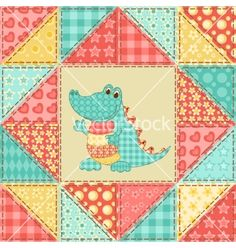Crocodile quilt pattern vector - by nad_o on VectorStock®