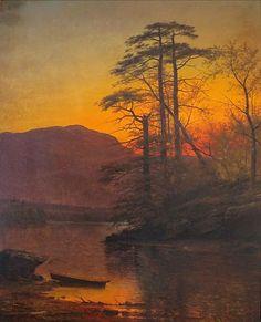 Arthur Parton - Evening on the Ausable River, 1875-79.