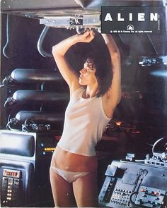 Sigourney Weaver On set of Alien, 1979