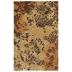 Hand-tufted Abstract Gold Wool Rug (3'6 x 5'6)