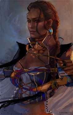 Like the idea of Bela with a braid. Maybe beneath her raider captain's hat? Hawke Dragon Age, Dragon Age 2, Dragon Age Origins, Dragon Age Inquisition, Dragon Age Characters, Dnd Characters, Fantasy Characters, Character Concept, Character Art