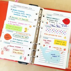How to Organize Your Planner : The Life & Musings of Annie Rose ♡: Stationery