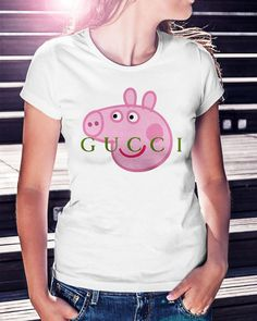 Gucci peppa pig shirt, hoodie, sweater and v-neck t-shirt Peppa Pig Funny, Peppa Pig Memes, Peppa Pig Shirt, Pegga Pig, Funny Cartoons, Funny Memes, Funny Pics, Funny Pictures, Birthday List