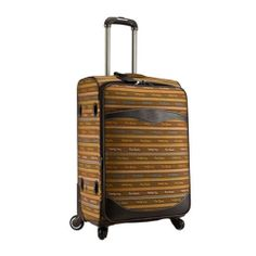 Genuine Pierre Cardin Carnival Luggage Expend Carry-On Travel Bag/ 19 inch Brown
