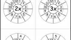 Times Table Worksheet - 2 -12 Times Tables - Six Worksheets