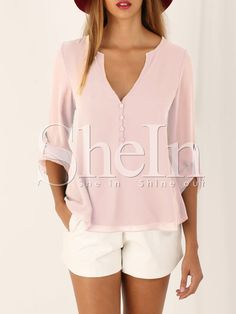 Shop Apricot Ajustable Cuff High Low Blouse online. SheIn offers Apricot Ajustable Cuff High Low Blouse & more to fit your fashionable needs.