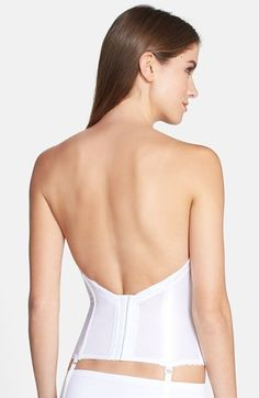 2c39ffa7f4 Free shipping and returns on Va Bien Low Back Satin Bustier at  Nordstrom.com.
