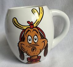 Dr. Suess How The Grinch Stole Christmas Max the Dog Coffee Mug Cup  #Vendor