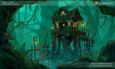 Swamp Cottage 3D by Zanariya.deviantart.com on @DeviantArt