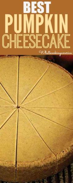 Best Pumpkin Cheesecake Recipe!   whatscookingamerica.net   #pumpkin #cheesecake #thanksgiving Best Pumpkin Cheesecake Recipe, Pumpkin Recipes, Fall Recipes, Holiday Recipes, Punkin Cheesecake, Raspberry Cheesecake, Oreo Cheesecake, Pumpkin Dishes, The Cheesecake Factory