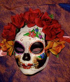"FABULOUS ""dia de los muertos"" mask"