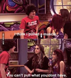 We show you the funniest burns from Victorious' Jade West in this funny Smosh gallery! Victorious Nickelodeon, Icarly And Victorious, Jade Victorious, Ft Tumblr, Zack E Cody, Funny Jokes, Hilarious, Drake And Josh, Nickelodeon Shows