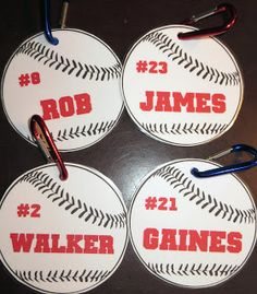 Room Mom Extraordinaire: Basketball Bags & Baseball Tags