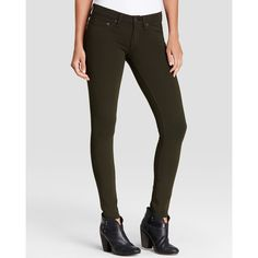 rag & bone/JEAN The Legging Ponte Jeans in Olive (350 BGN) ❤ liked on Polyvore