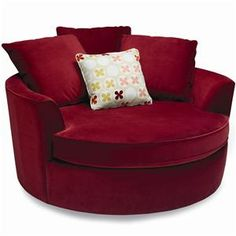 Round chair...red!