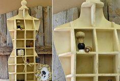 Large Bodyform Cubby Shelf - From Antiquefarmhouse.com - http://www.antiquefarmhouse.com/current-sale-events/accent36/bodyform-cubby-shelf.html