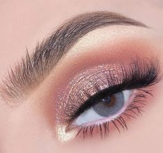 41 top rose gold makeup ideas that look like a goddess - makeup - .- Top Rose Gold Make-up-Ideen, die aussehen wie eine Göttin – Make up – 41 top rose gold makeup ideas that look like a goddess Pink Eye Makeup Looks, Glitter Eye Makeup, Wedding Makeup Looks, Eyeshadow Makeup, Easy Makeup Looks, Pastel Makeup, Eyeshadow Brushes, Makeup Brushes, Natural Makeup For Brown Eyes