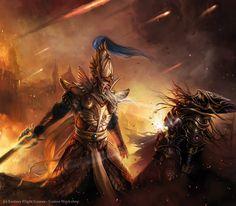 Magali Villeneuve Portfolio: Warhammer Invasion LCG : Valour of Ages