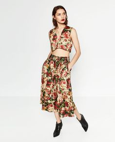 Image 1 of PRINTED CROP TOP from Zara