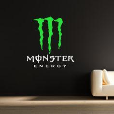 Monster Energy wall sticker decal kids boys girls bedroom mural interior design. £14.99, via Etsy.