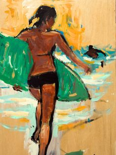 Need anything surf related? Figure Painting, Painting & Drawing, Hawaiian Art, Surf Art, Ocean Art, Beach Art, Love Art, Art Pictures, Vector Art