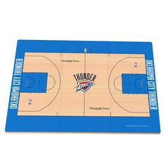 Oklahoma City Thunder Replica Basketball Court Foam Puzzle Floor, Multicolor