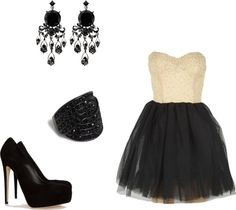 """bal fin d'année Lyah"" by ihateloveyou ❤ liked on Polyvore"