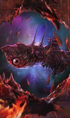 Collection of artwork about Warhammer Warhammer 40000, Warhammer 40k Memes, Warhammer Art, Warhammer Fantasy, Warhammer Heresy, The Stars My Destination, Battlefleet Gothic, Alien Ship, Spaceship Design