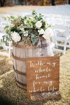 spring wedding country wedding ceremony ideas with wine barrels Wedding Ceremony Ideas, Wedding Tips, Wedding Reception, Reception Ideas, Wedding Ceremonies, Wedding Venues, Wedding Aisle Outdoor, Wedding Entrance, Wedding Timeline